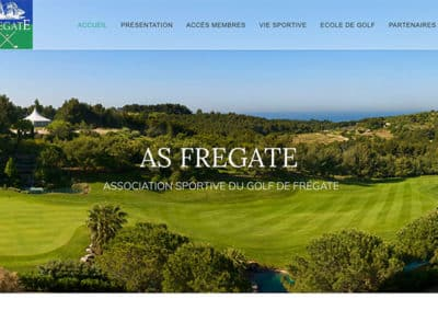 Site web AS Golf Fregate