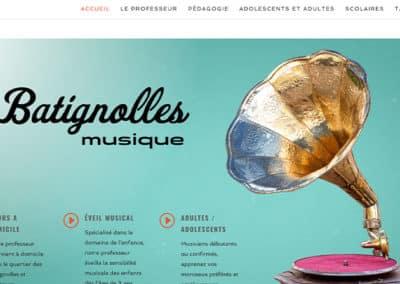 Site web Batignolles Musique