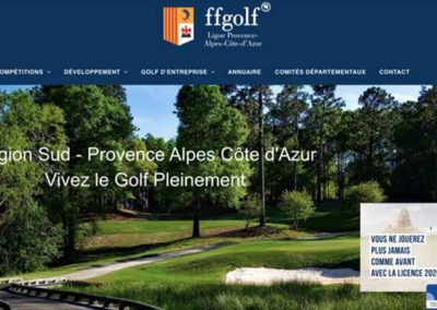 Site web Ligue Régionale de Golf PACA