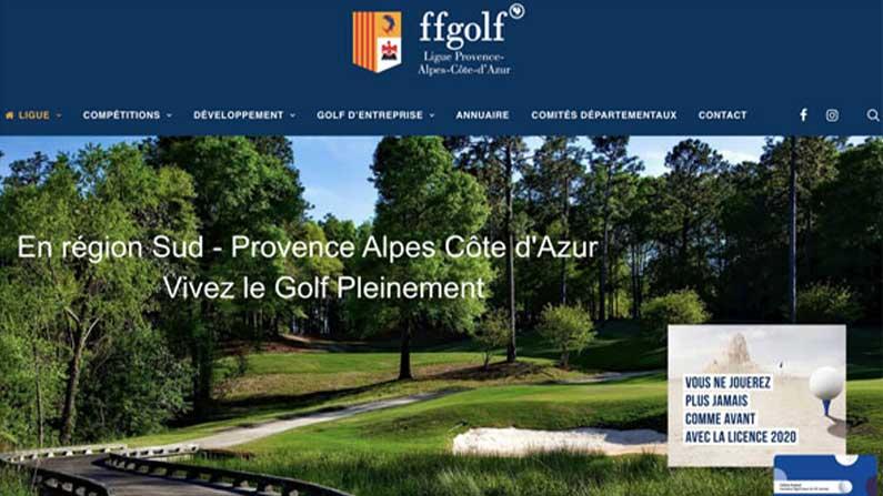 Site web Ligue Régionale de Golf PACA