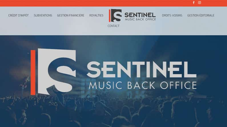 Site web Music Back Office