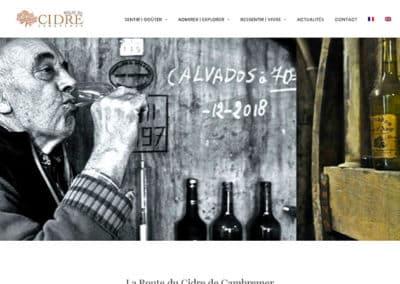 Site web Route du Cidre