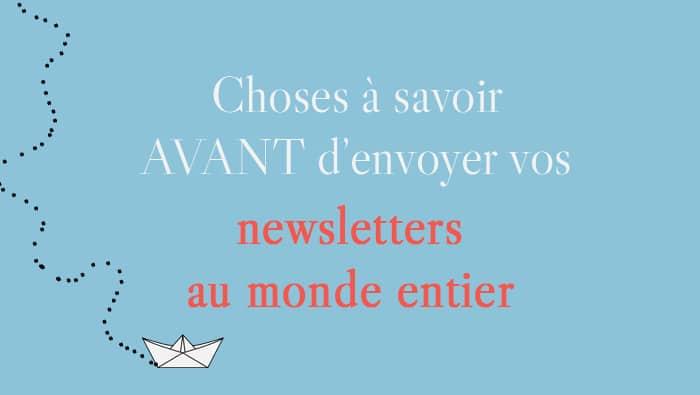 Bonnes pratiques pour les newsletters